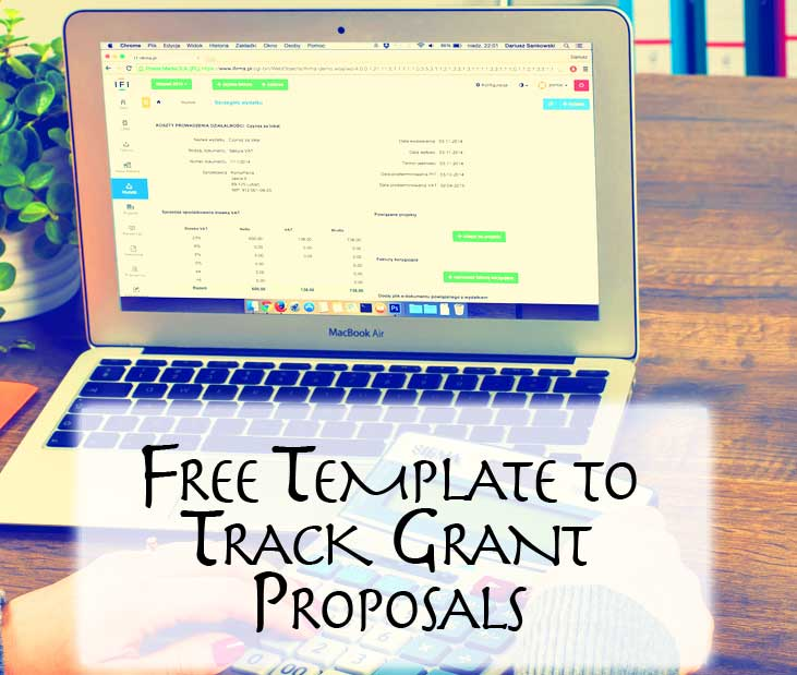 Free Excel spreadsheet template to track grant proposals.